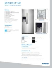 RS25H5111SR Spec Sheet