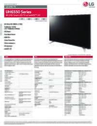 UH6550 Series Spec Sheet