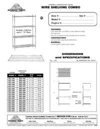 Wire Shelves Combo Spec Sheet
