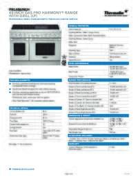 PRG486NLH Spec Sheet