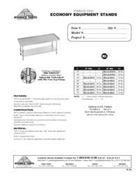Equipment Stands Spec Sheet