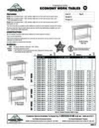 WorkTables Spec Sheet
