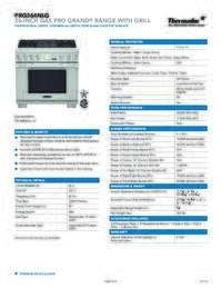 PRG364NLG Spec Sheet