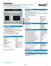 PRD484NCHU Spec Sheet