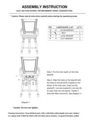 Waverly Place Return Memory Swivel Counter Stool Assembly Instruction
