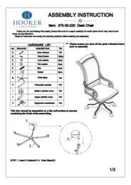 Telluride Tilt Swivel Chair Assembly Instruction