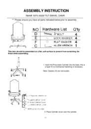 Rhapsody Tilt Swivel Chair Assembly Instruction