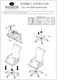 Tynecastle Tilt Swivel Desk Chair Assembly Instruction
