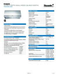 PH36HS Specifications
