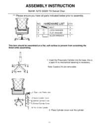 Grand Palais Tilt Swivel Chair Assembly Instruction