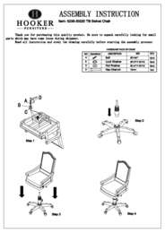 Haddon Hall Tilt Swivel Chair Assembly Instruction