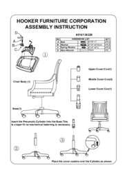 Latitude Tilt Swivel Chair Assembly Instruction