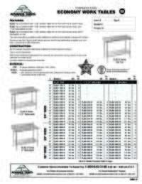 WorkTables Spec Sheet