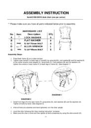 Desk Chair Assembly Instruction