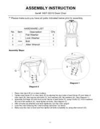 Home Office La Maison Desk Chair Assembly Instruction