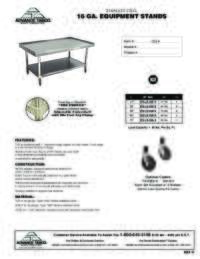 Equipment Stand Spec Sheet