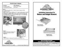 Installation Instructions for Deluxe and Budget Drawers