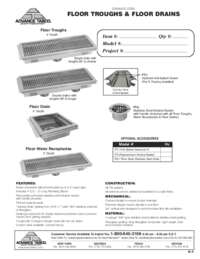 Floor Troughs Spec Sheet
