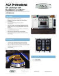 Gas Range Specification Sheet