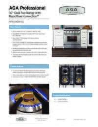 Dual Fuel Range Specification Sheet