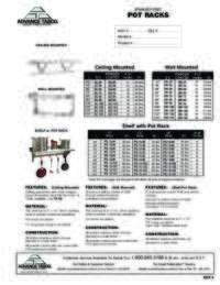Pot Rack Spec Sheet