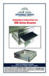Installation Instructions for SHD Series Drawers