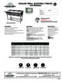 Sealed Electric Hot Food Tables Spec Sheet