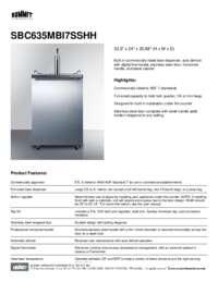 Brochure SBC635MBI7SSHH