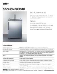 Brochure SBC635MBI7SSTB