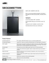 Brochure SBC635MBI7TWIN