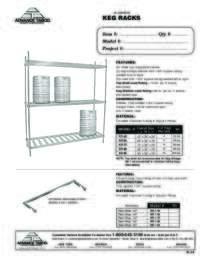 Aluminum Keg Racks Spec Sheet