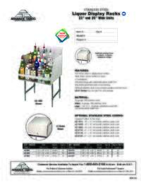 Liquor Display Racks Spec Sheet