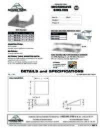 Microwave Shelves Spec Sheet