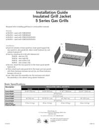 Insulated Grill Jacket Installation Guide