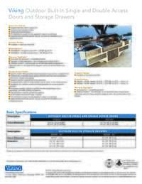 Specification Outdoor Drawers Doors Storage