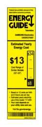 UN55KU7000FXZA Energy Guide