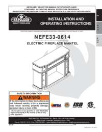 Colbert Mantel Installation and Operations Manual