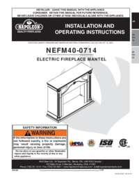 Aden Mantel Installation and Operations Manual