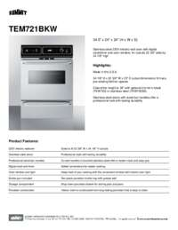 Brochure TEM721BKW