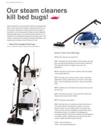 Steam Cleaners Kill Bed Bugs