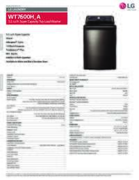 WT7600 Spec Sheet