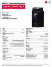 DLEX7600 DLGX7601 Spec Sheet