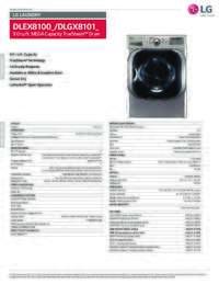 DLEX8100 DLGX8101 Spec Sheet