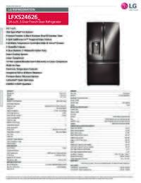 LFXS24626 Spec Sheet