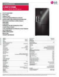 LSXC22386D Spec Sheet