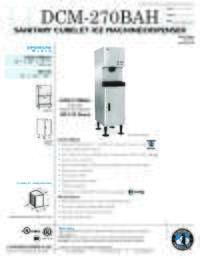 DCM 270BAH Specifications Sheet
