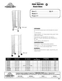 Pan Racks Spec Sheet