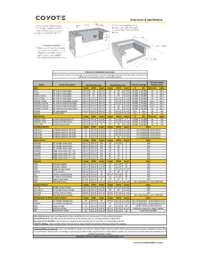 2016 Coyote Line Dimension Sheet
