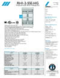 RH1 2 SSE HG Specifications Sheet