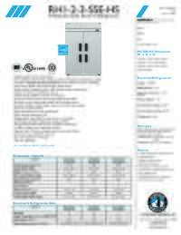 RH1 2 3SSE HS Specifications Sheet